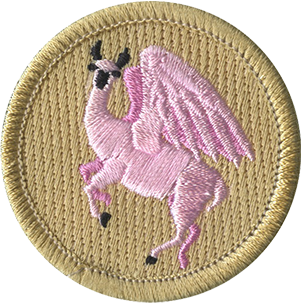 Llama png pink. Flying patrol patch