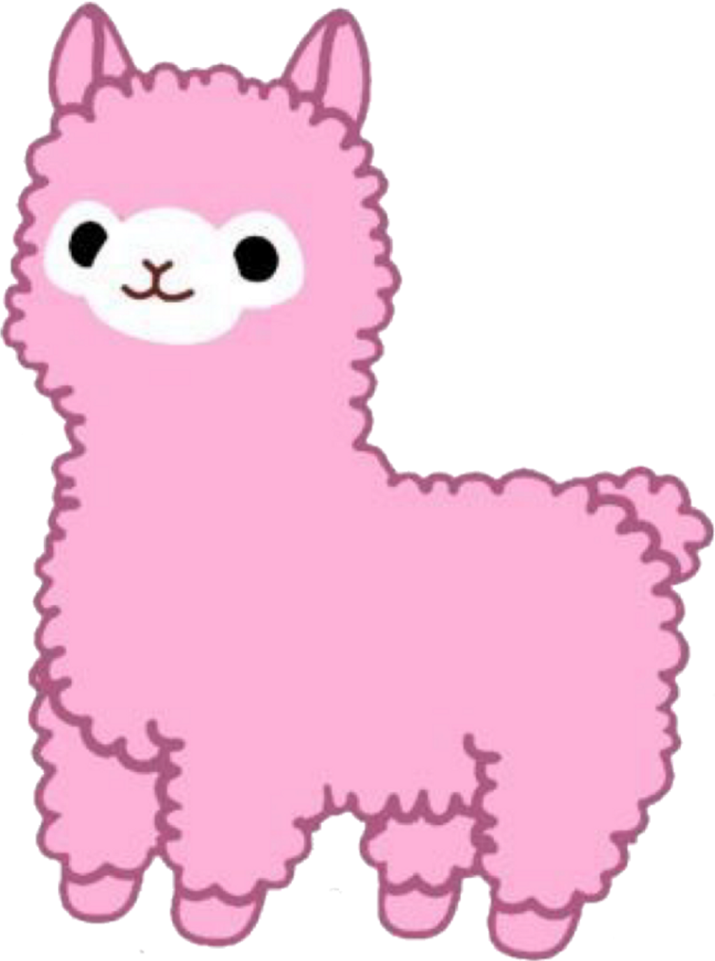 Llama png pink. Alpaca sticker by this