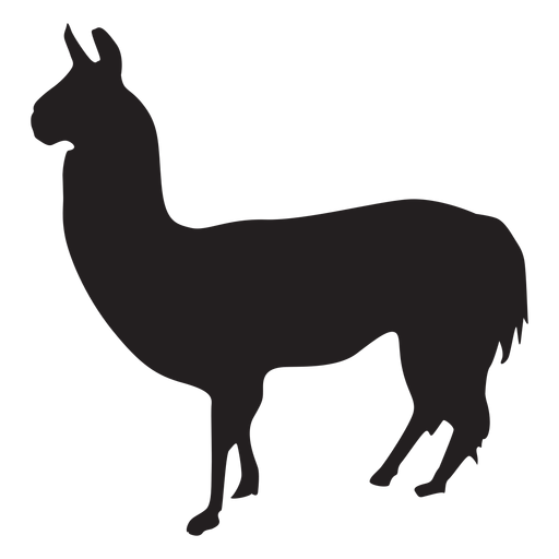 Llama silhouette png. Isolated transparent svg vector