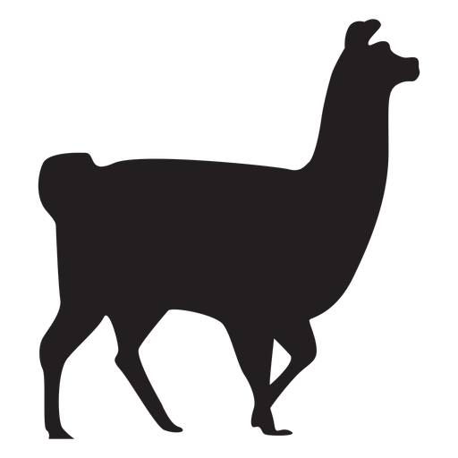 Llama silhouette png. Isolated walking transparent svg