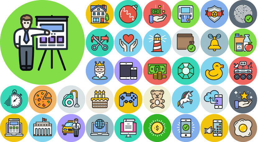 Futuristic vector circle. Icojam high quality icons