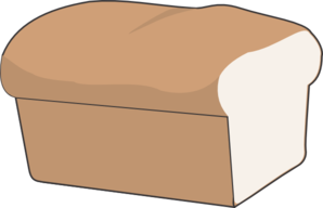 Loaf of clipart. Bread with no separate