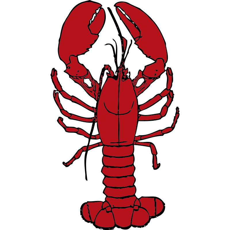 Lobster clipart border. Free picture of a