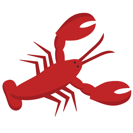 Svg scrapbook cut file. Lobster clipart border clipart freeuse library