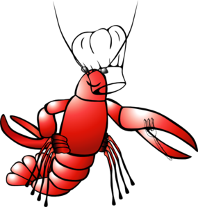 Lobster clipart chef. Crawfish clip art at