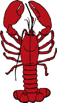Dip decapods seafood free. Lobster clipart snow crab image black and white