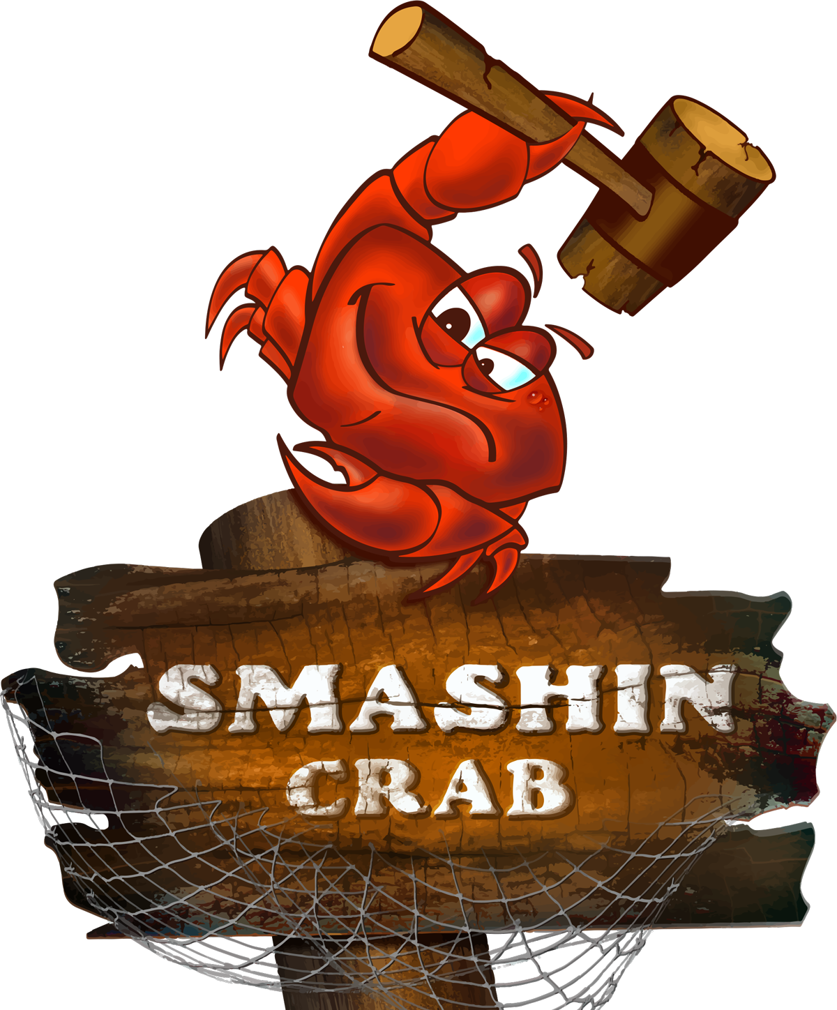 Smashin hours locations sub. Lobster clipart snow crab black and white stock