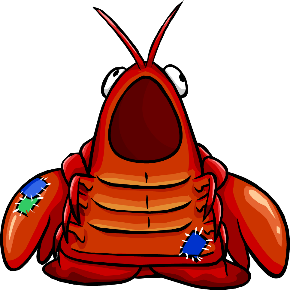 Costume club penguin wiki. Lobster clipart snow crab jpg black and white library