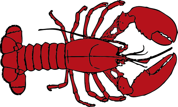 Outline clip art at. Lobster clipart border clip royalty free stock