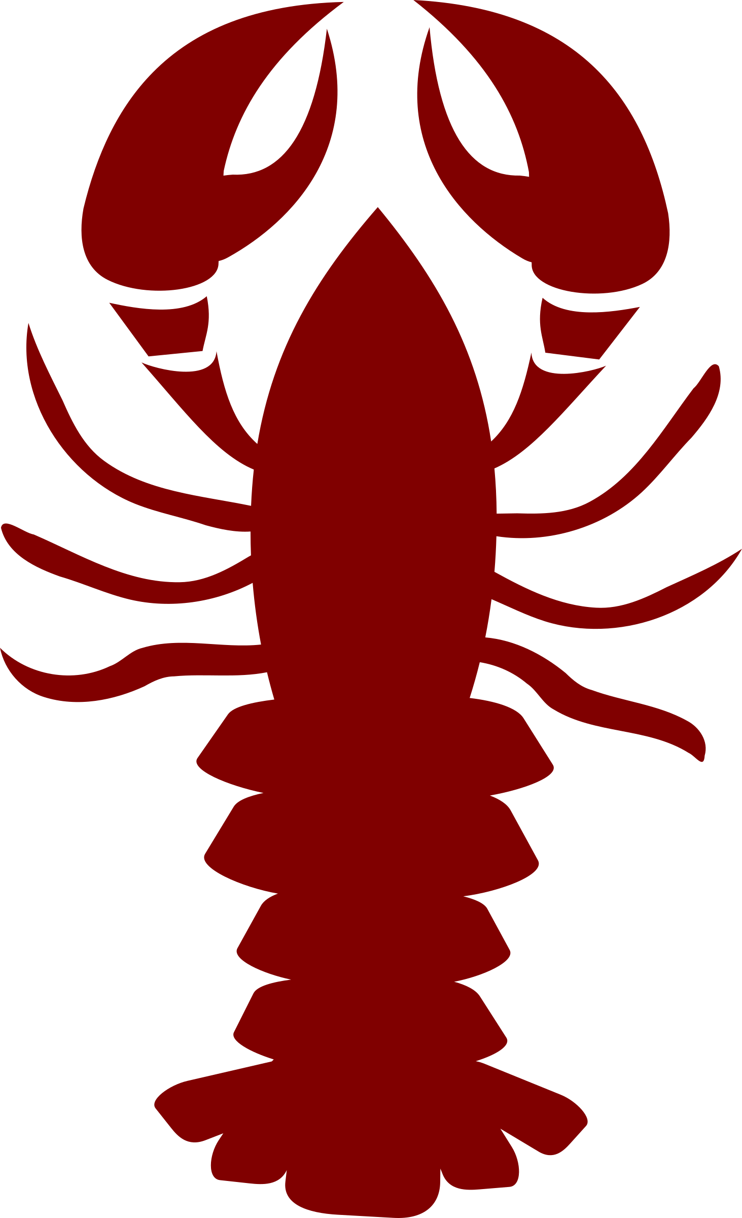 Lobster silhouette png. Clipart vector illustration image