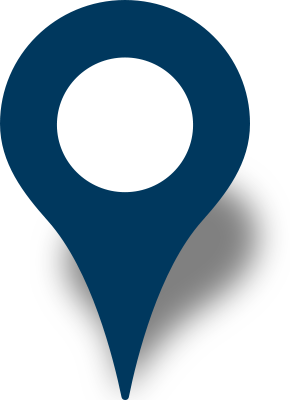 Pins vector location icon. Simple map pin navy