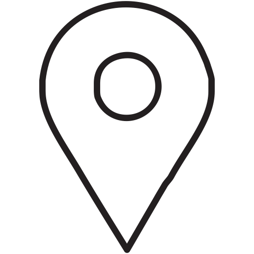Location icon white png. Social media by roundicons