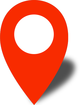 Location map png. Simple pin icon red