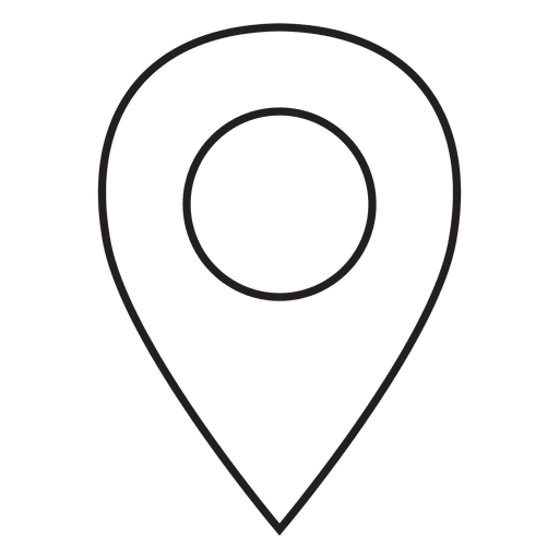 Location pin icon png. Stroke transparent svg vector