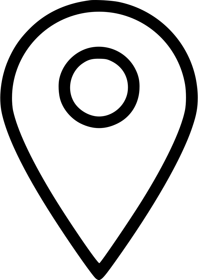 Location pin white png. Map marker place svg