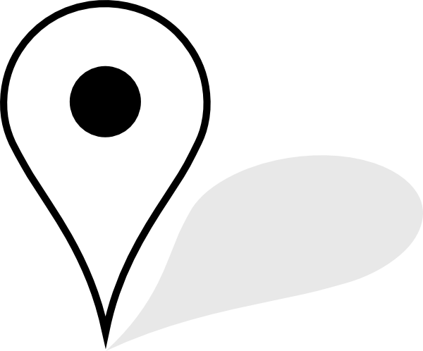 Location pin white png. Map with shadow transparent