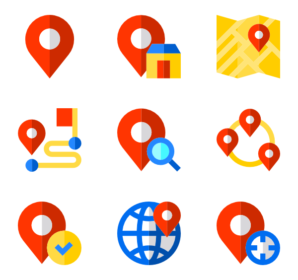 Location vector png. Icons free set