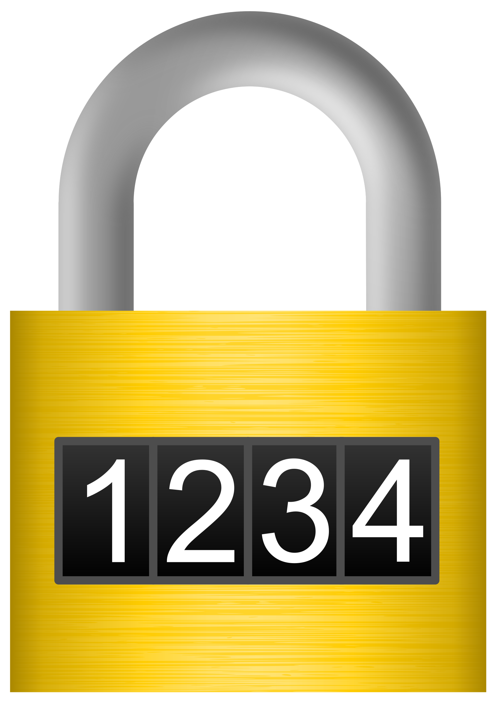Lock clipart combo lock. Combination big image png