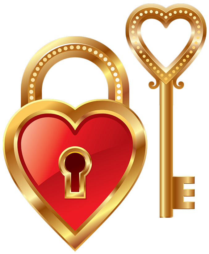 Lock and key png. Heart clipart gallery yopriceville