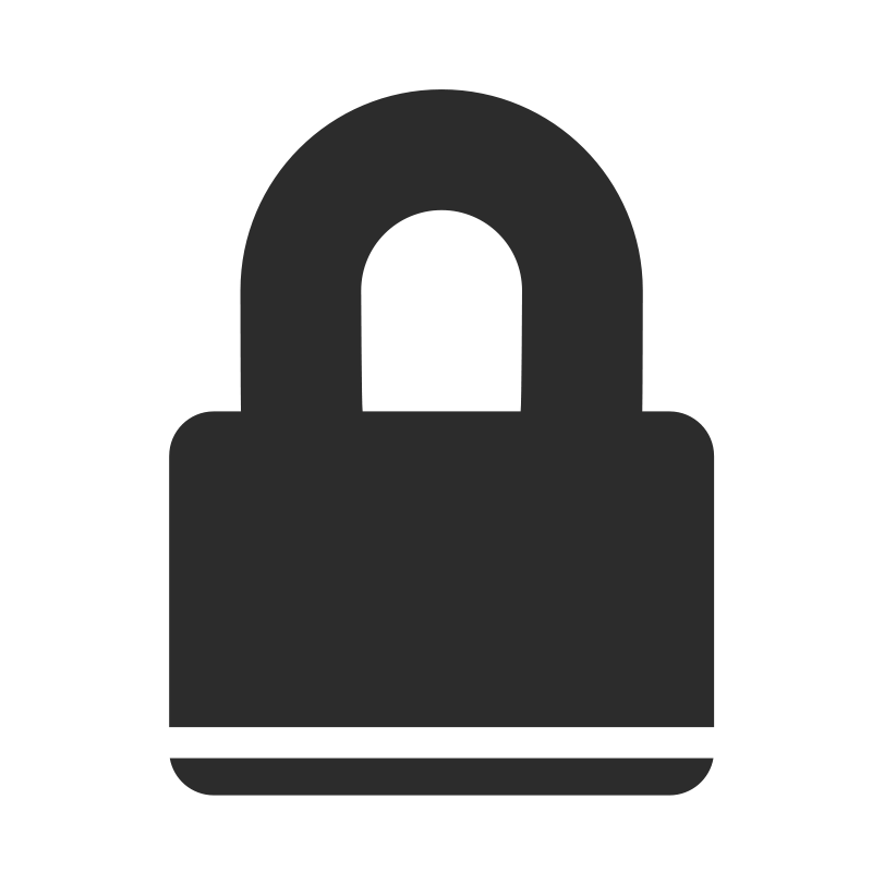 Padlock drawing simple. Vector lock icon free