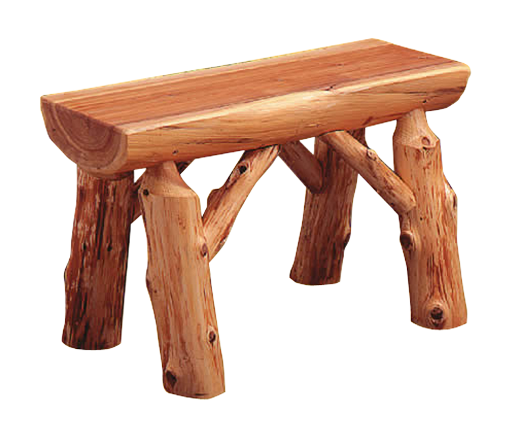 log bench png