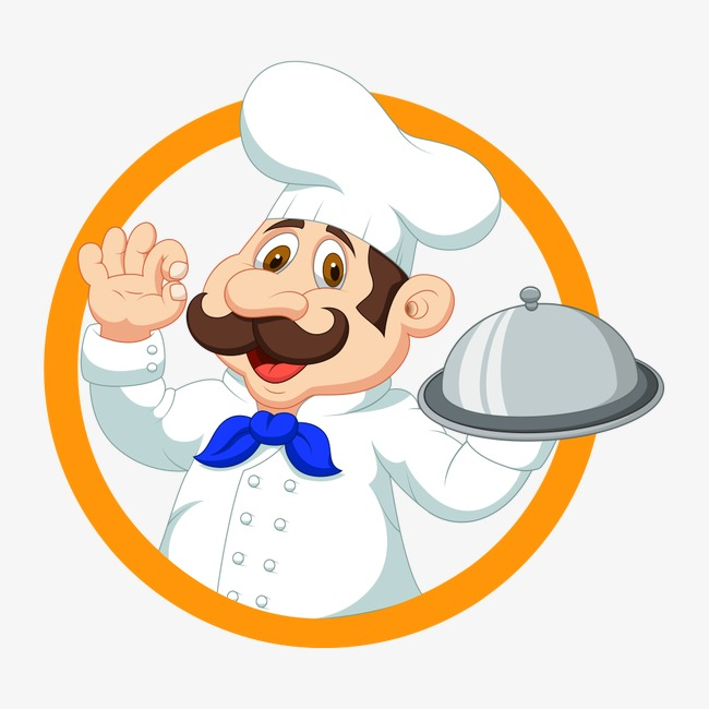 Catering clipart. Logo chef character png
