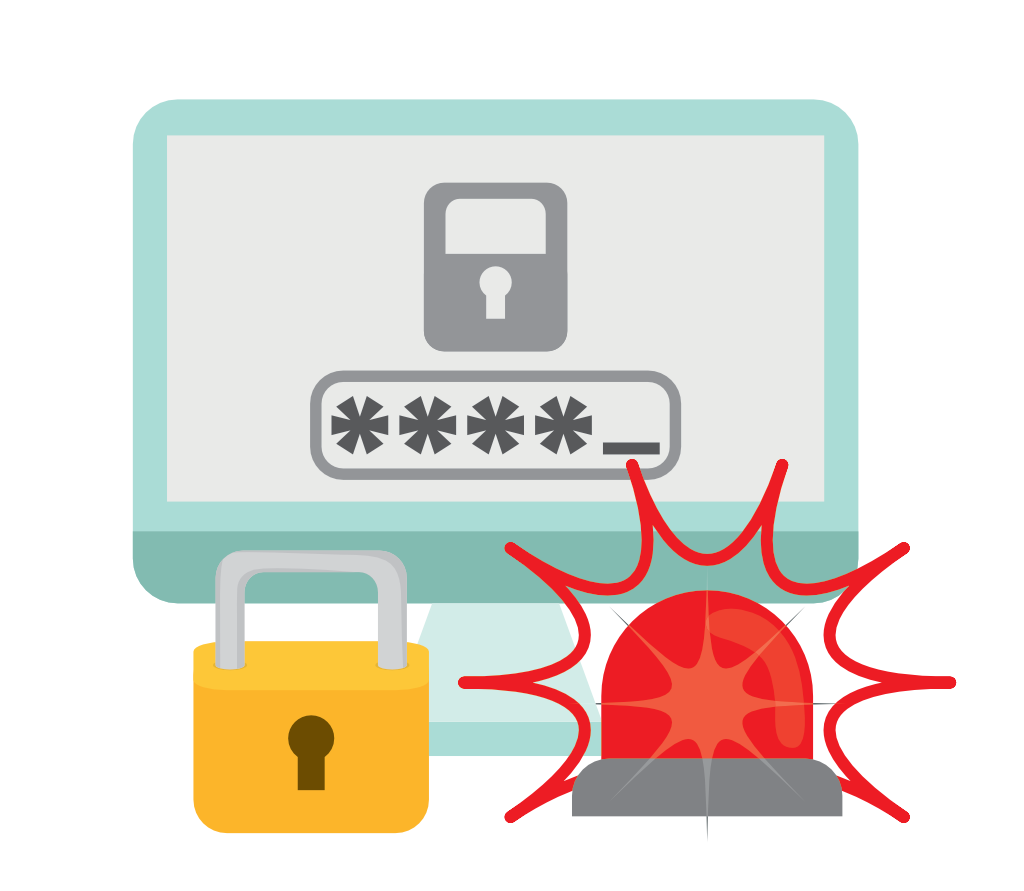 Log clipart password security. The real life risks