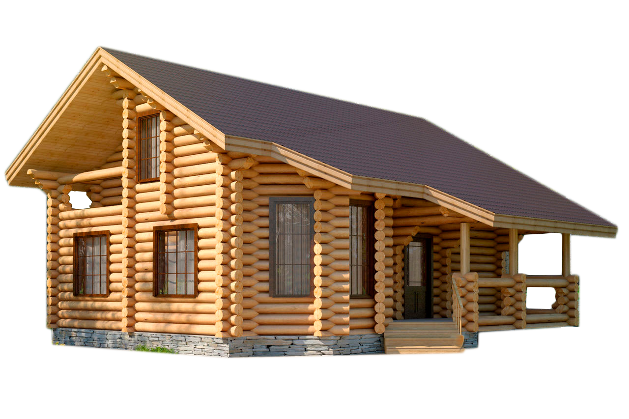 Log house png. From the outside image