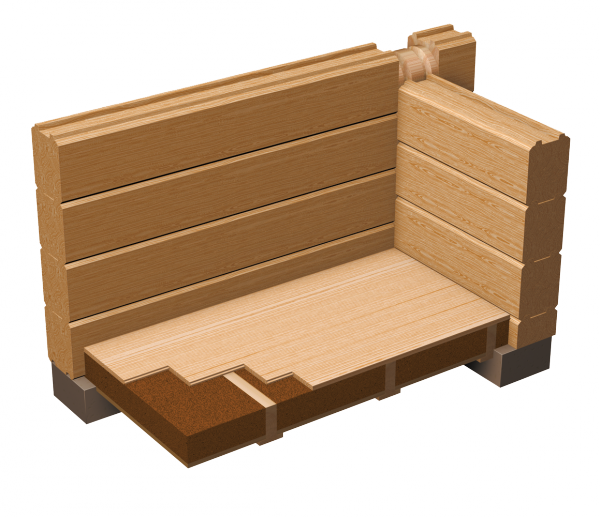 Log wall png. Artichouse the house system