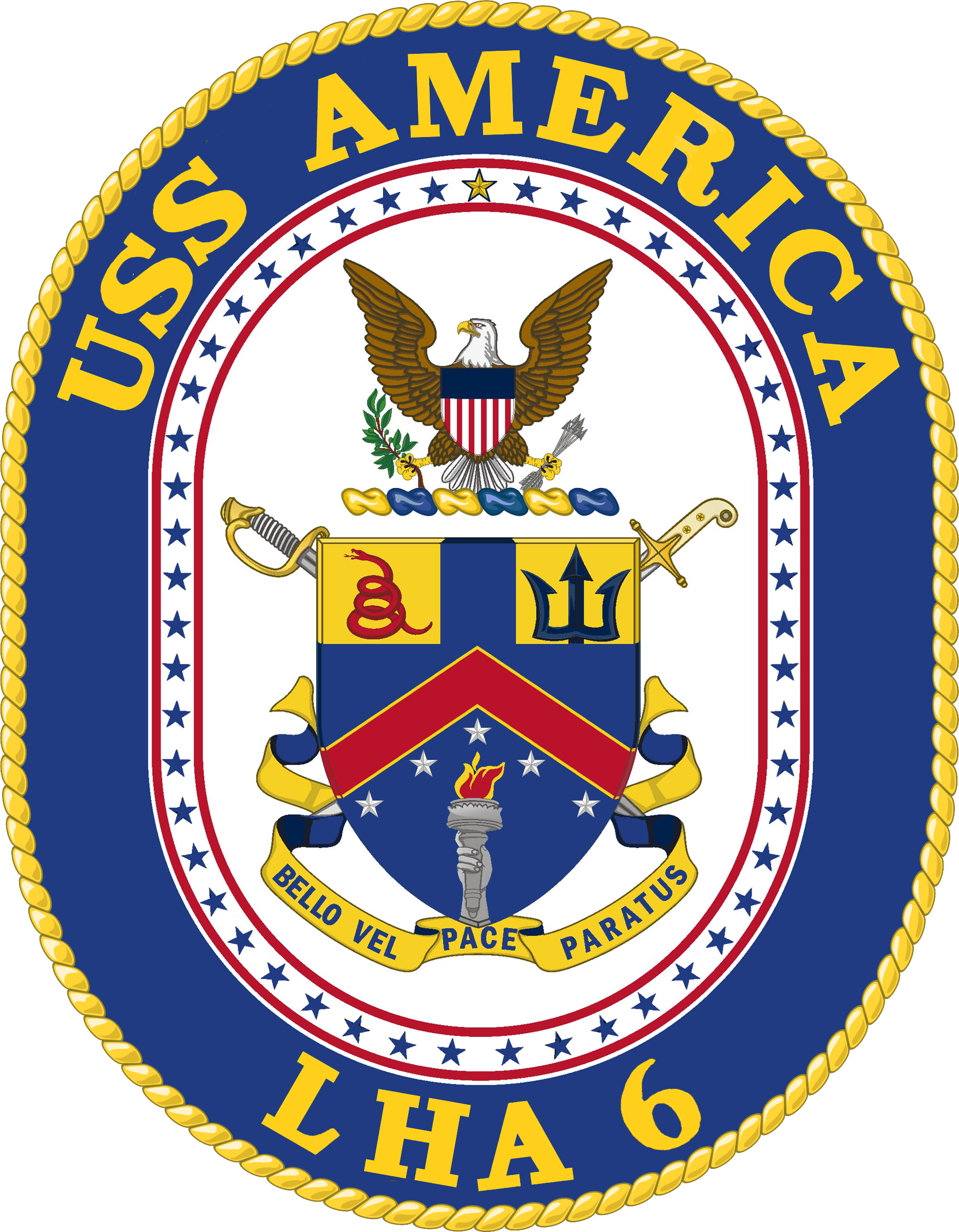 File uss america lha. Crest border png clipart royalty free library