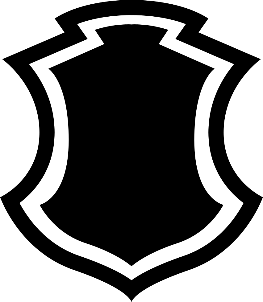 Shield shape with svg. Logo border png image black and white download