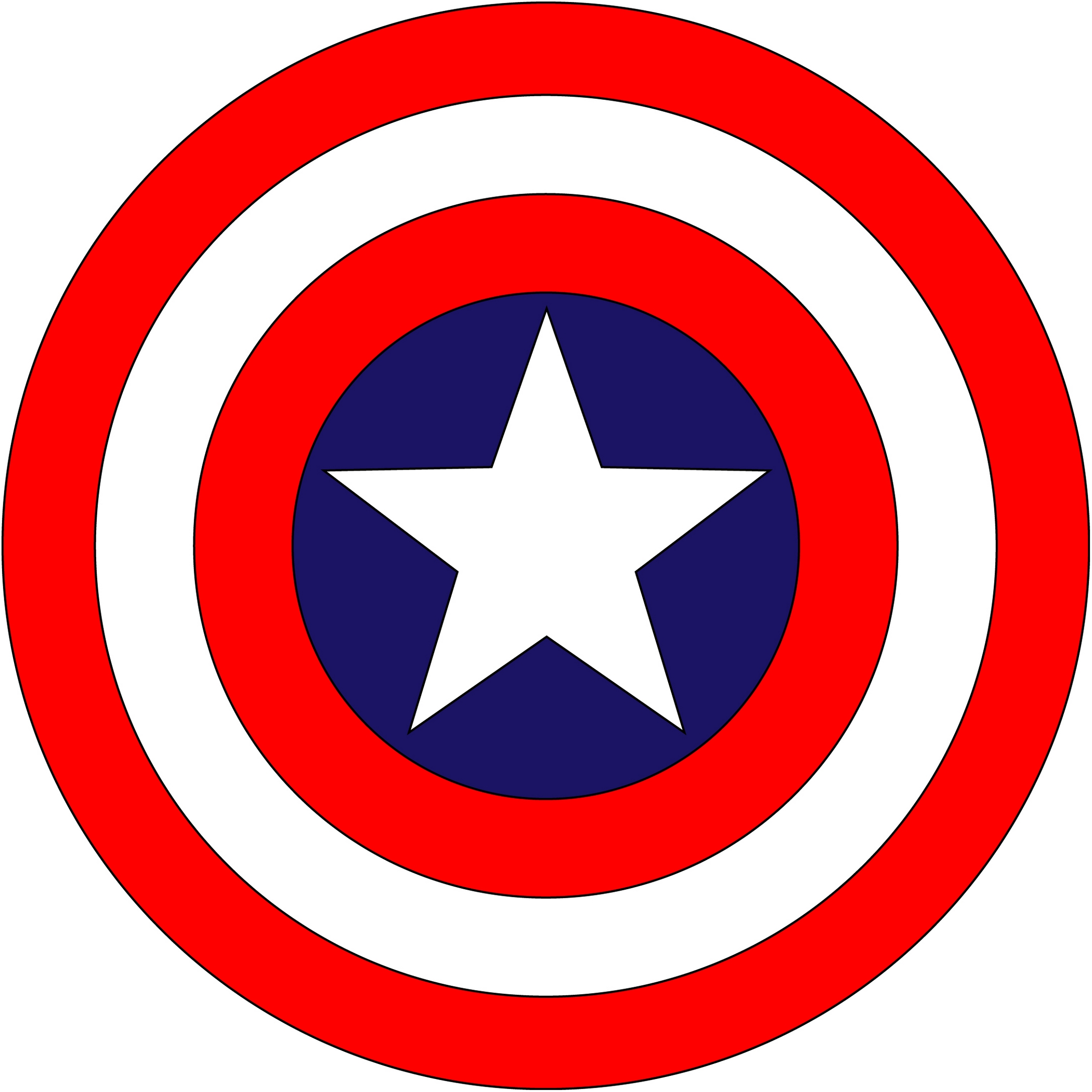 Captain america . Logo clipart vector freeuse library