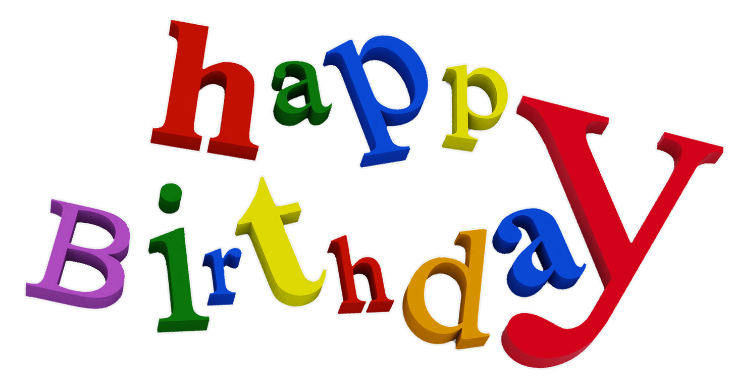 happy birthday png transparent background