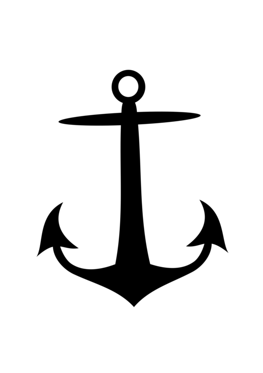 Anchor silhouette png. Ship logo drawing free