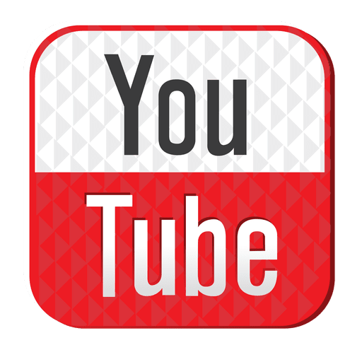 Logo de youtube png. Metallic button transparent svg