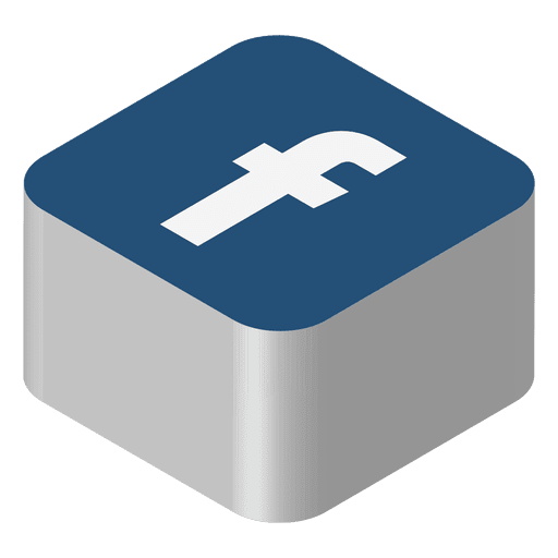 Logo facebook png. Isometric icon transparent svg