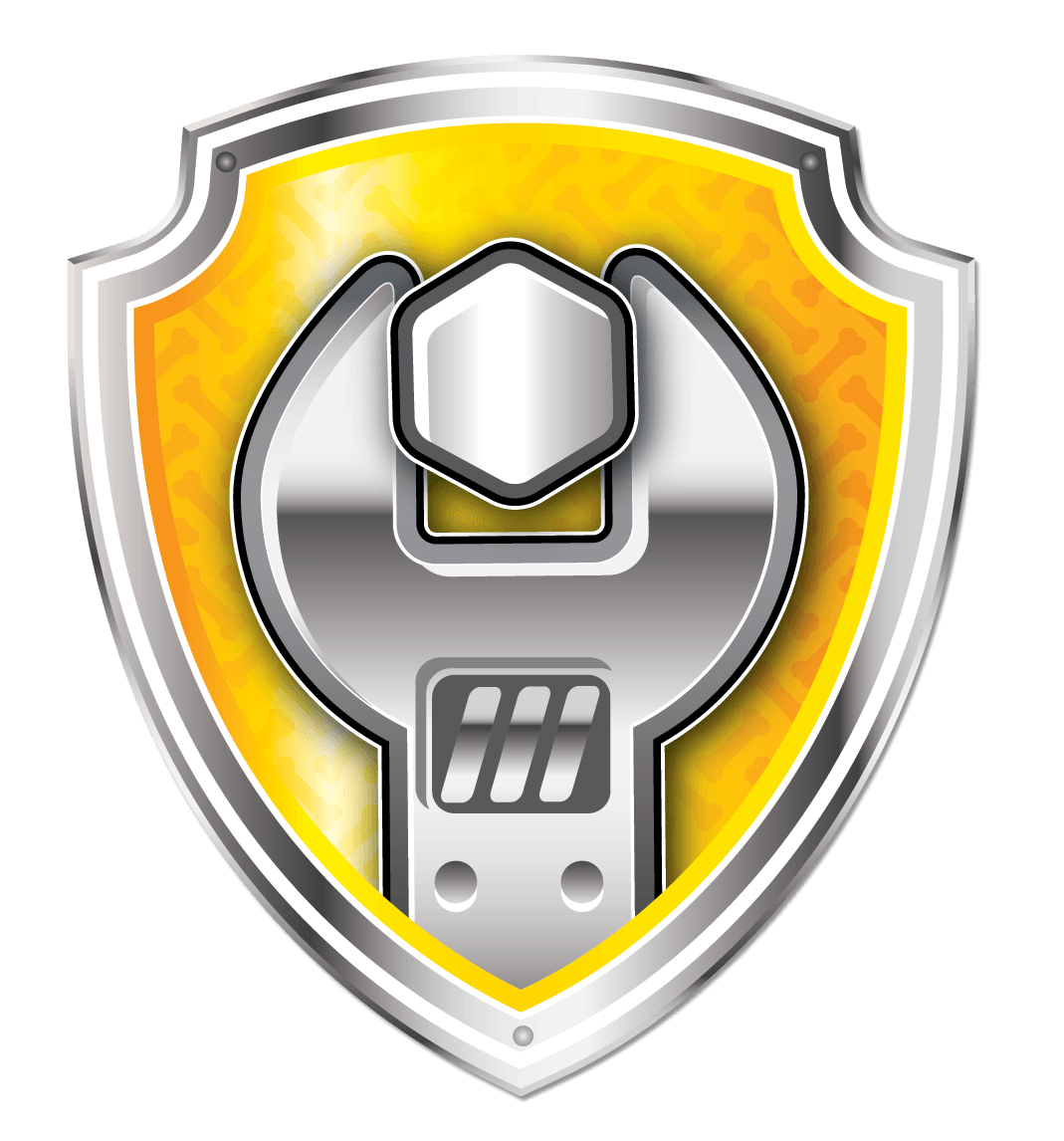 Logo paw patrol png. Escudo rubble ideas pinterest