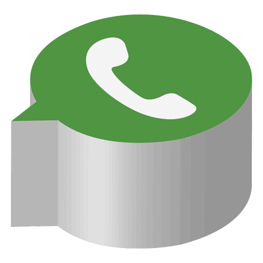 Logo whatsapp 3d png. Isometric icon transparent svg