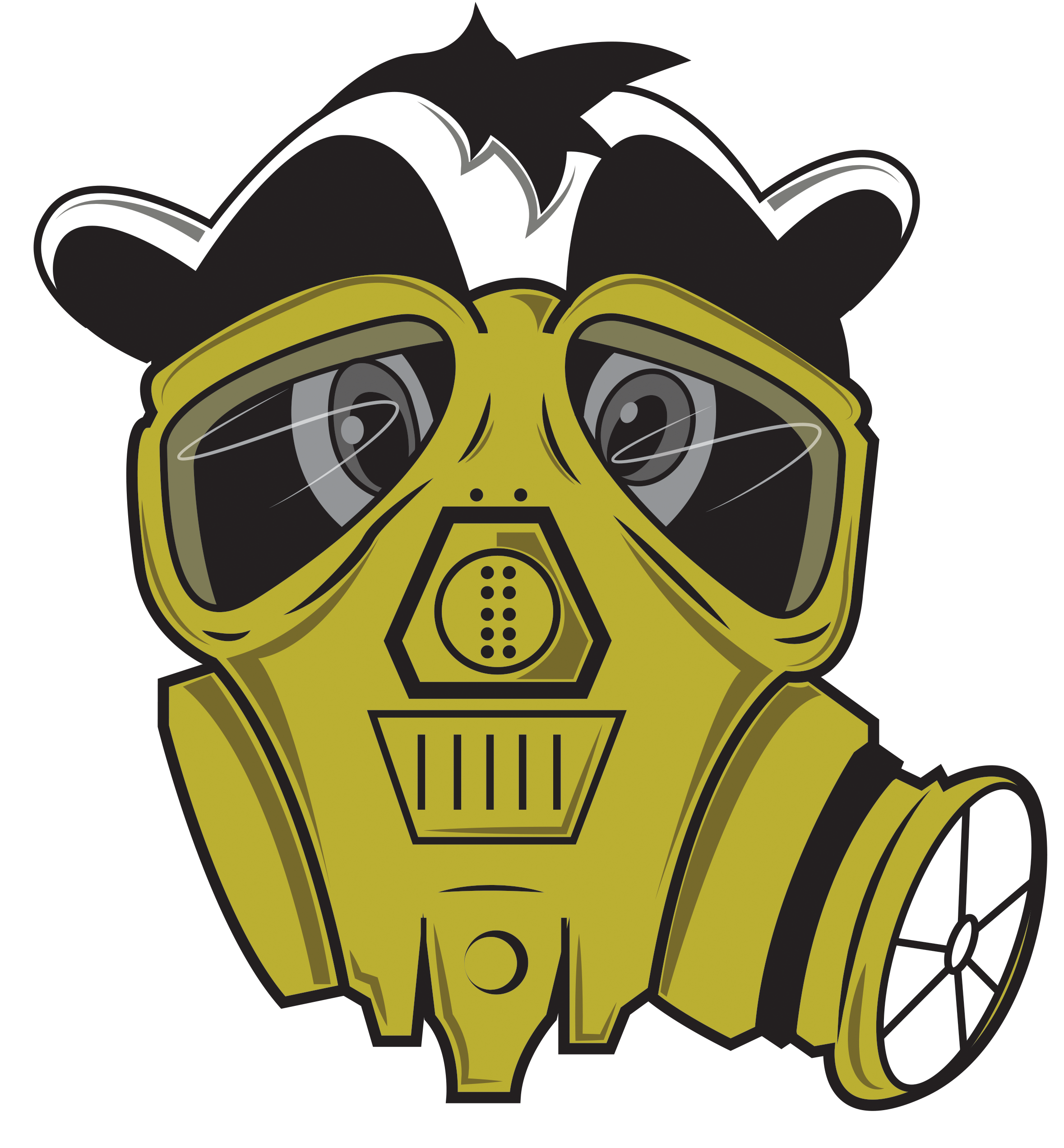 J drawing gas mask. Cools logo png images
