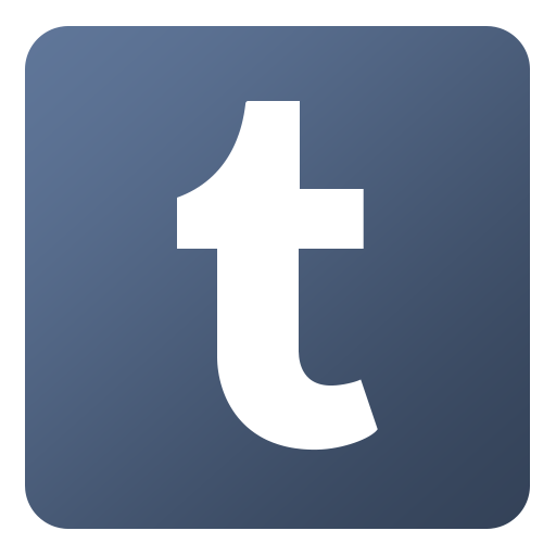 Logos png redes sociales. Tumblr icon flat gradient
