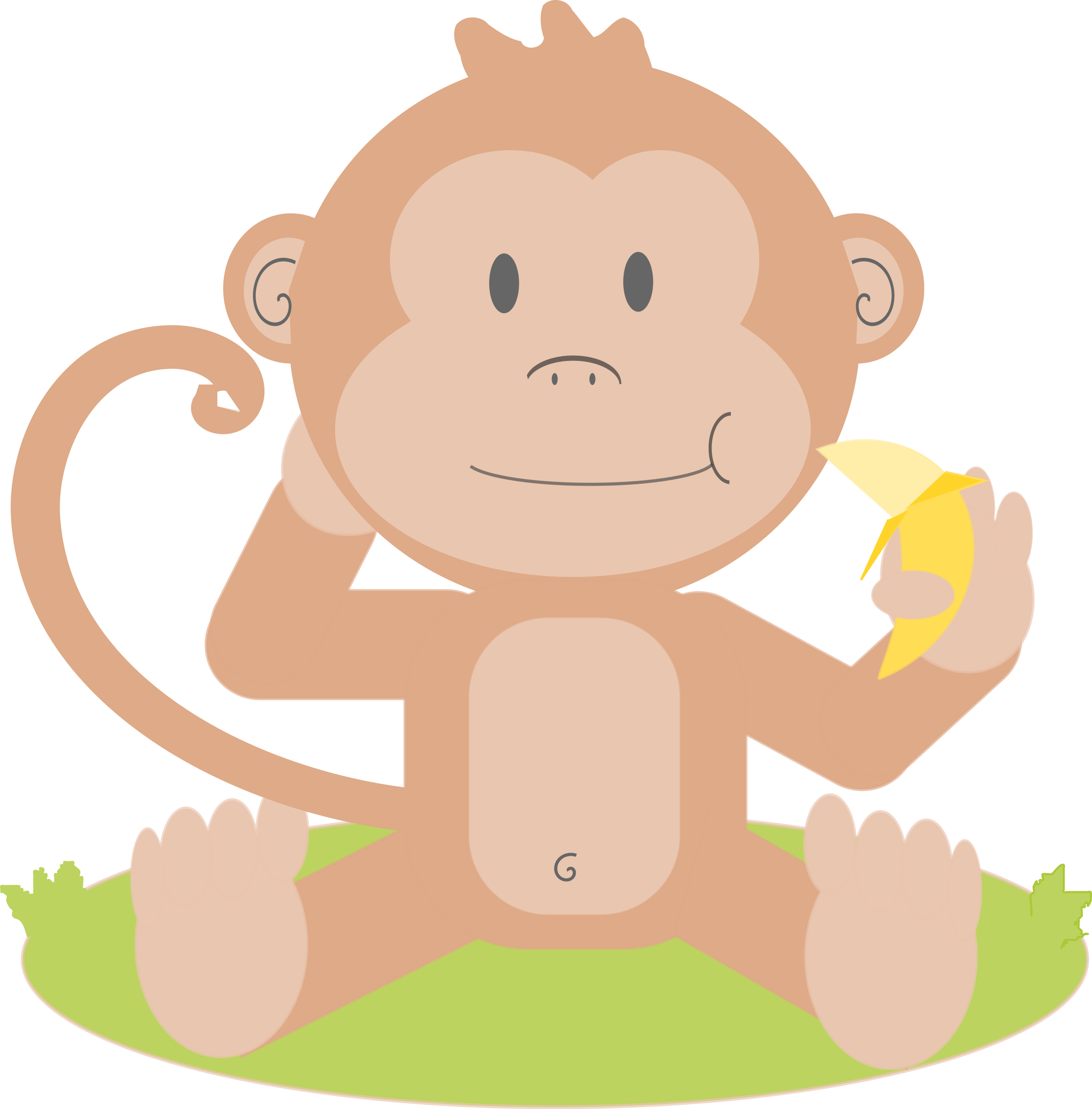 Monkeys eating bananas clipart png. Animated monkey log in