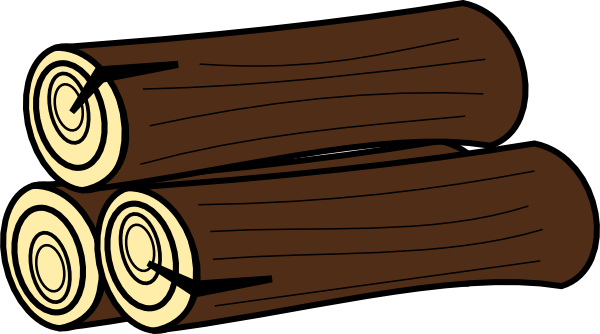 Drawing logs vector. Clip art at clker png transparent library