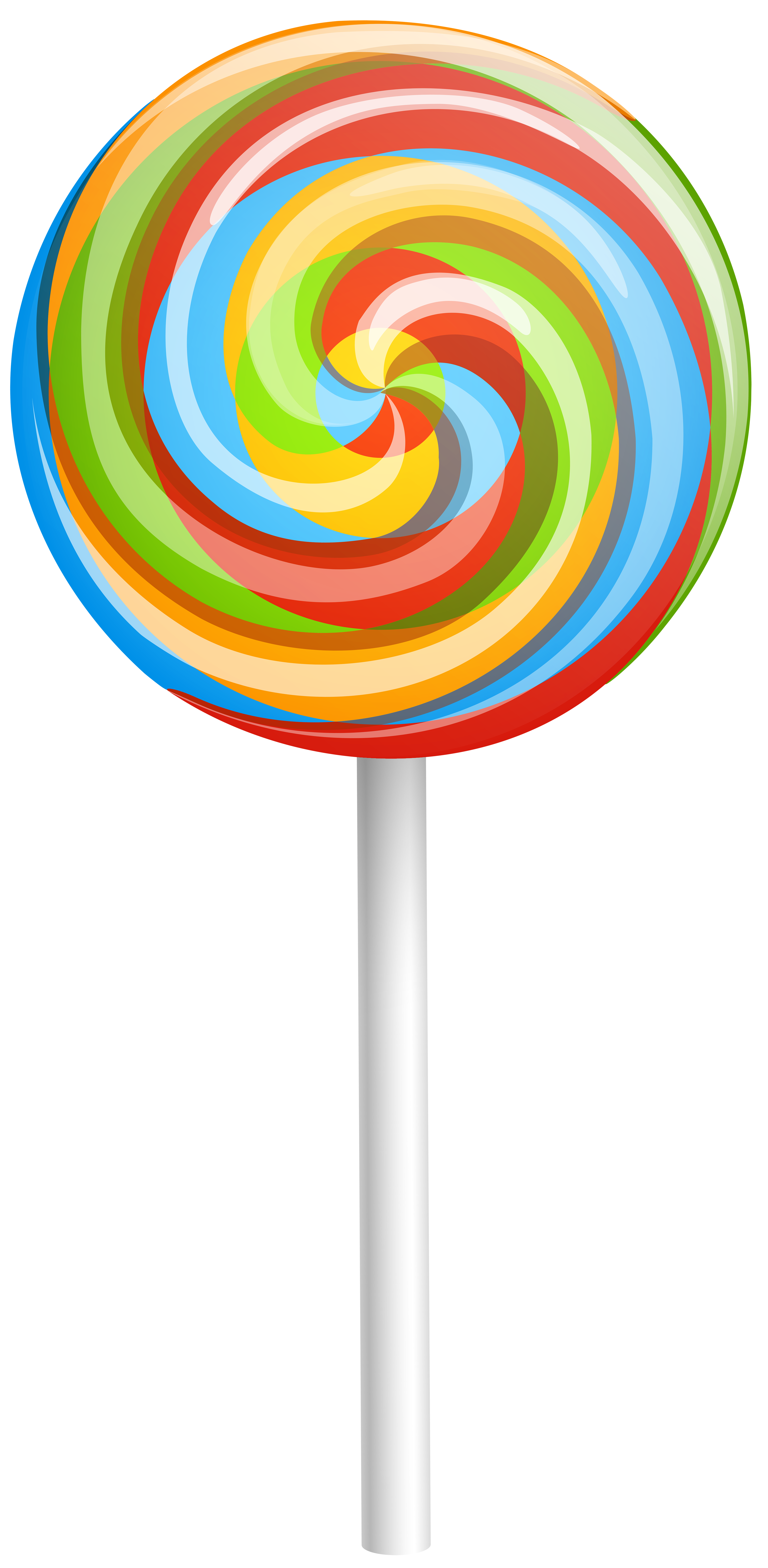 transparent lollipop mini rainbow