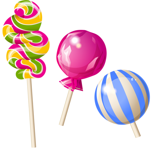 Transparent lollipop carnival. Clipart row for free