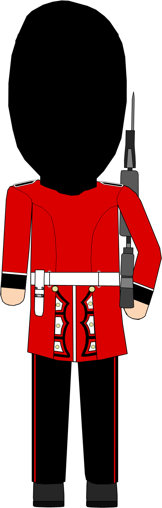 Royal queens guard achterkant. London clipart guards buckingham palace png free stock