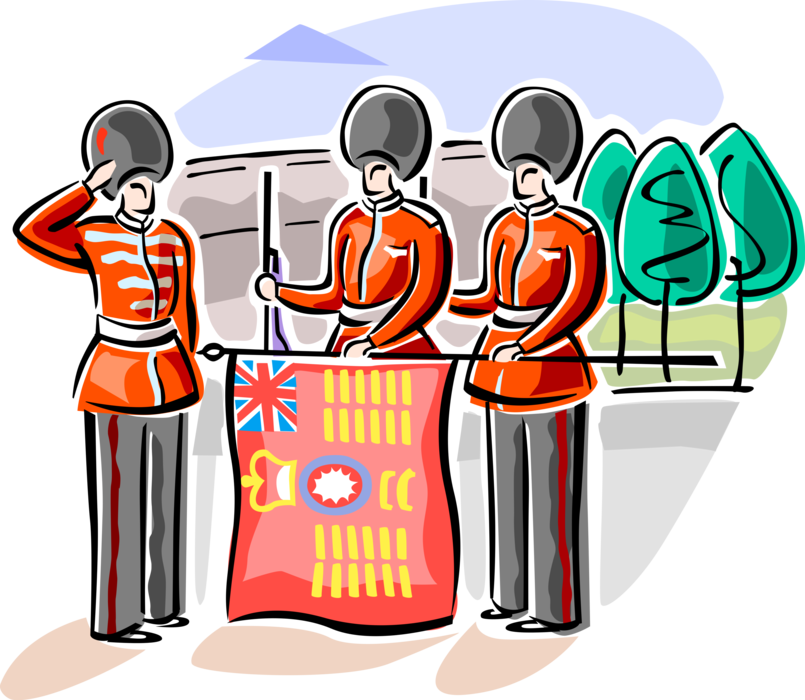 London clipart guards buckingham palace. Changing the queen s