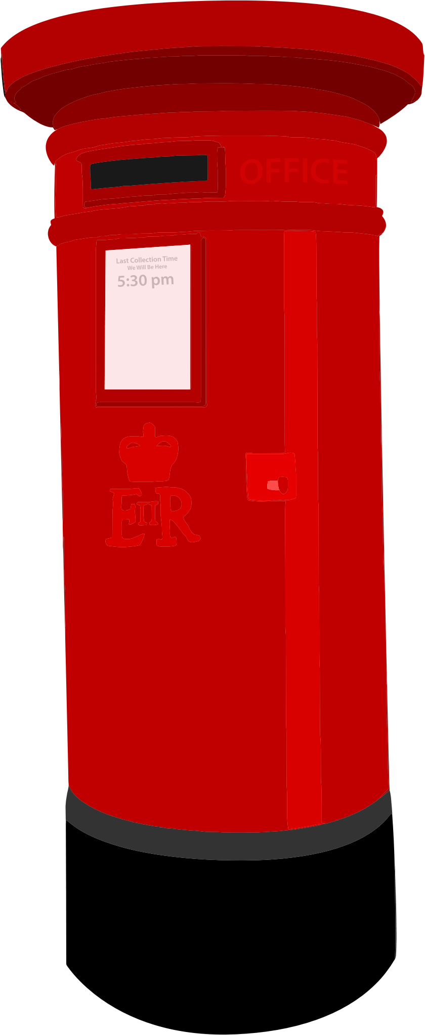 Red mailbox on post png. Postbox images free download