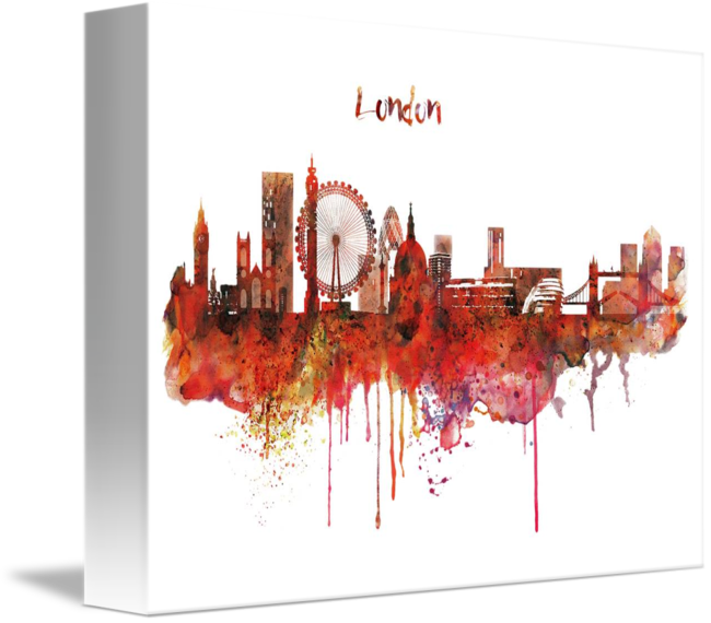 London skyline png. Watercolor by marian voicu