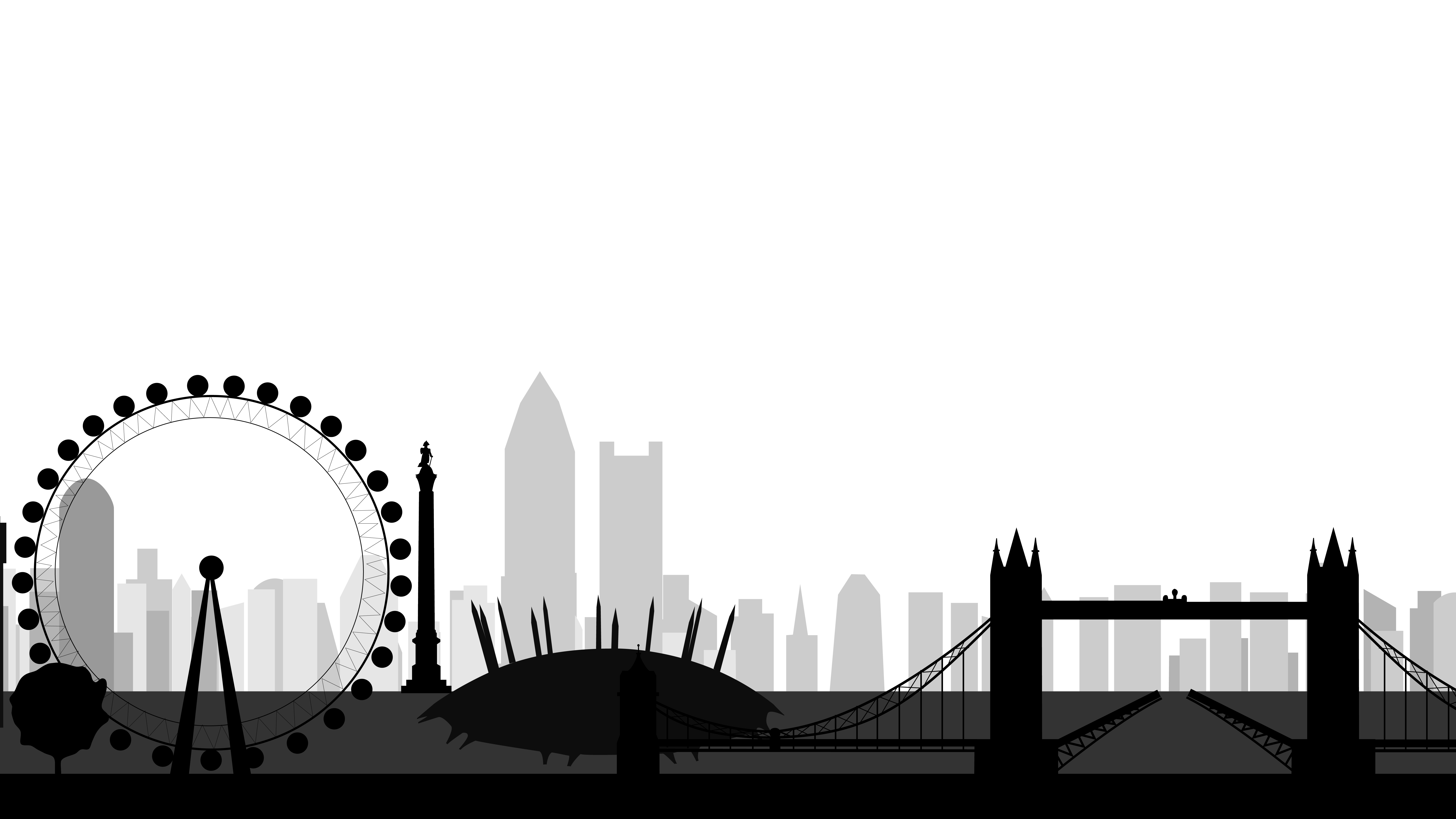 London skyline png. Images of cityscape silhouette