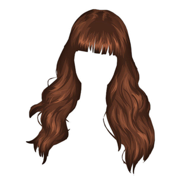 Long brown hair png. Official psds share this